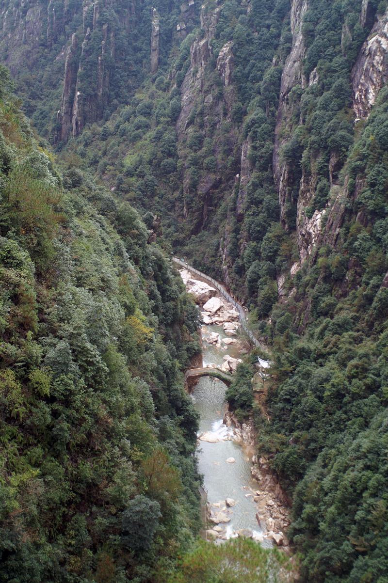 浙江天台 琼台仙谷风景区 2005年11月摄高清图片